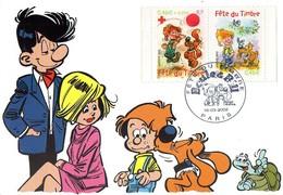 France 3467/68 Fdc Boule Et Bill, Chien, Tortue - Bandes Dessinées