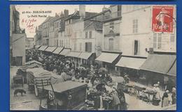 BAR-sur-AUBE    Le Petit Marché   Animées     écrite En 1909 - Bar-sur-Aube