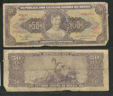 Brazil Banknote Cinquenta Cruzeiros - 50 Cruzeiros, Princesa Isabel - Brasile