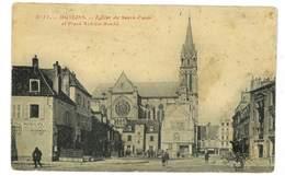 CPA 03 MOULINS SERIE P. PAQUET N°11 EGLISE DU SACRE COEUR ET PLACE ACHILLE ROCHE - Moulins