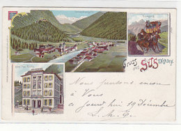 Gruss Aus Süs - Hotel Post Rhätia - Litho - 1899     (P-231-90917) - GR Grisons