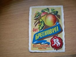 Breskovaca Milan Popovic Novi Sad Old Label - Etichette