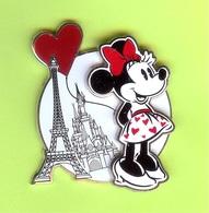 Pin's Disney Minnie À Paris Tour Eiffel (Double Moule) - #076 - Disney