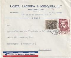 PORTUGAL 1955 PLI AERIEN DE PORTO - 1910-... Republic