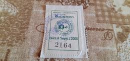 MARCA DA BOLLO ISTITUITO UNIVERSITARIO DI MAGISTERO LIRE 2000 - Steuermarken