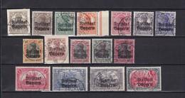 Bayern - 1919 - Michel Nr. 136/151  - Gest. - 75 Euro - Bayern