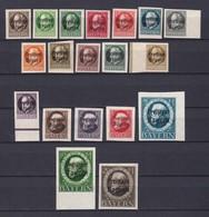 Bayern - 1920 - Michel Nr. 152/170 B - Postfrisch/Ungebr. - Bayern