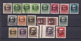 Bayern - 1919 - Michel Nr. 152/167 A - Gest. - 113 Euro - Bayern