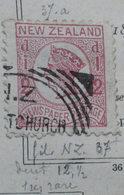 New Zeland 1873 37a Fil NZ Perf 12 1/2 - Oblitérés