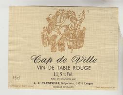 OENOPHILIE 6 ETIQUETTES VIN DE TABLE - Pelure D'oignon, Cuvée Hôtel De Paris, Cap De Ville, Le Bien Venu, Cramoisay, Fon - Collezioni & Lotti