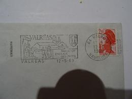 Lettre Flamme 84 VALREAS   1989  TBE - 1961-....
