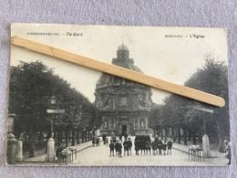 MONTAIGU L'ÉGLISE -SCHERPENHEUVEL-/DE KERK 1921 PANORAMA,ANIMÉE - Leuven