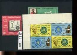 Ägypten, Xx, Konvolut Auf A6-Karte, 360-361 ZD Als 4-er Block, U.a. - Egypt