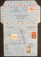 France - Aérogramme - 6 ème Rallye Aérien International De Tunisie - 1988 - Luftpost