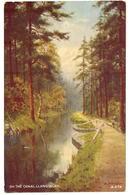 """Grande Bretagne Pays De Galles On The Cnal Langollen Nice Painting  """"art Colour Postcard - Pays De Galles"""