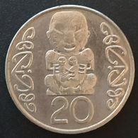 NOUVELLE ZELANDE - NEW ZEALAND - 20 PENCE 1990 - Elisabeth II - 3e Effigie - KM 81 - Nuova Zelanda