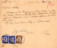 DR 1935, 1+2x2 RM Fiskalmarken Auf Formular M. Stpl. Amstsgericht München - Allemagne