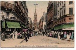 Paris-Rue Etienne Dolet Prise Du Boulevard De Belleville (XX°) - Arrondissement: 20
