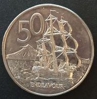 NOUVELLE ZELANDE - NEW ZEALAND - 50 CENTS 1988 - Elisabeth II - 3e Effigie - KM 63 - Nuova Zelanda