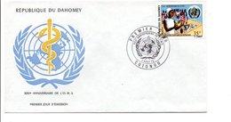 DAHOMEY FDC 1973 25 ANS DE L'O M S - Benin - Dahomey (1960-...)
