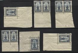 N°164 Perron Liège - Ensemble De 9 TP Xx En Paires Ou Cdf. Cote COB 103.5€ - Unused Stamps