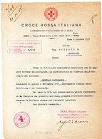 CG - Informative Della Croce Rossa Italiana - Comm. Prigionieri Di Guerra - 6/10/1917 E 2/11/1917 - Documenti Storici