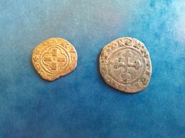 FEODALES SAVOIE DENIER AMEDEE VIII - LOT DE 2 MONNAIES 1416/1440 - 476-1789 Monnaies Seigneuriales