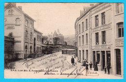 CPA BOUILLON Avenue De La Gare, Animée, Circulée En 1910, Ed. 11006 Edit Fortier Brasserie De Diekirch - 2 Scans - Bouillon