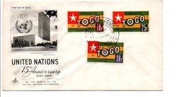 TOGO FDC 1960 ADMISSIONS A L'O N U - Togo (1960-...)
