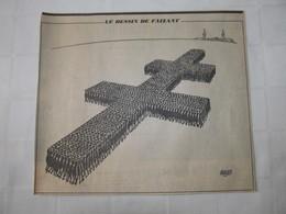 JACQUES FAIZANT - DESSIN DE PRESSE - FUNERAILLES DU GENERAL DE GAULLE - LE FIGARO NOVEMBRE 1970. - Unclassified