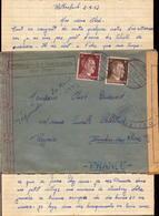 Lettre Prisonnier Francais ( Firma ) Ferme Heinrich Muller, Rothenbach Bei Feucht Pour La France Rognac  (bon Etat) - Germany