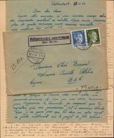 Lettre Prisonnier Francais ( Firma ) Ferme Heinrich Muller, Rothenbach Bei Feucht Pour La France Rognac  (bon Etat) - Briefe U. Dokumente