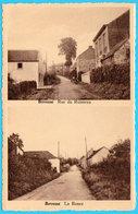 CPSM BOVESSE : 2 Vues : Rue Du Ruisseau & La Ronce - Circulée En 1966 - Ed. Buyle, Brux. - 2 Scans - La Bruyère