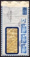 1945 Zensurierter Luftpostbrief Aus Zürich Mit 3x 1 Fr. PAX Marken, Friedenstaube, Gebrauchsspuren, Knitter - Lettres & Documents