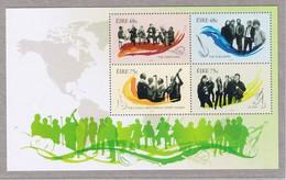 IRLANDA 2006 GRUPPI MUSICALI FOGLIETTO BF72  MNH - Unused Stamps