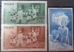 R2740/355 - 1942 - COLONIES FR. - TOGO - POSTE AERIENNE - N°6 à 8 NEUFS* - Neufs