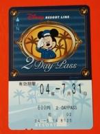 T-170 - JAPAN, JAPON, Prepaid Card DISNEY, MICKEY MOUSE - Disney