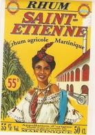 ETIQUETTES RHUM AGRICOLE SAINT ST ETIENNE GROS MORNE MARTINIQUE 55° 50CL - Rhum