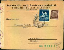 1941, Brief Im Sondertarif (2. Gewichtsstufe) Ab HILDBETTEN (SUDETEN) In Die Slowakei - Germany