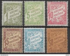 Monaco 1904 Mi. Nr.1-6 - Ungebraucht