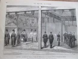 Gravure  1873 JAPON   Le Mikado  Recoit à Yeddo La Mission Francaise - Oude Documenten