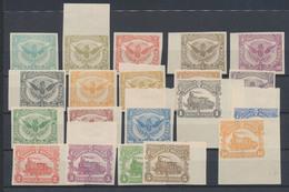 Chemin De Fer - Série Complète (TR58 à 78 Sauf 73, 20 Valeurs) Non Dentelé + Gomme. 2 Coins De Feuills + Qlq BDF - 1915-1921