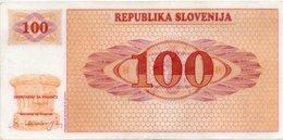 SLOVENIA  100 TOLARJEV 1991 P-6a AUNC  PLASTIFICATO - Slovénie