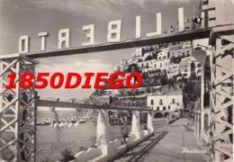 POSITANO DALLO STABILIMENTO FILIBERTO F/GRANDE VIAGGIATA 1950  ANIMAZIONE - Salerno
