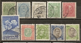 Islande Iceland Collection Early Stamps - Natation