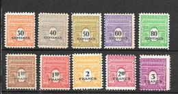 1945-  France  / Série Arc De Triomphe  / YT 702/711 / MNH** - Neufs