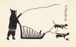 Eskimo Inuit Print - Advertisement For Bar Salon Igloo Montréal - Dog Sled - Traîneau à Chien - 2 Scans - Fine Arts