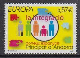 Europa Cept 2006 Andorra Sp. 1v  ** Mnh (46931A) @ Face Value - 2006