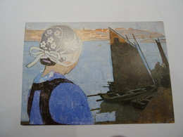 """Carte Reproduction Carl Moser """"Petite Bretonne De Tréboule"""" 1904  Editée Par Les Amis Du Musée De Pont-Aven  TBE - Sin Clasificación"""