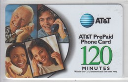 USA 2000 AT&T CALLING PEOPLE GREEN 120 MINUTES - [3] Magnetic Cards